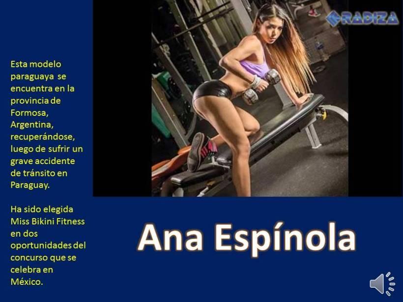 Ana Espínola, modelo paraguaya --