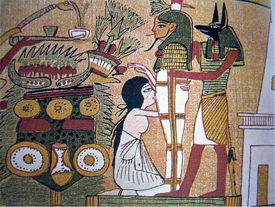 egipcios antiguos en la cama 2