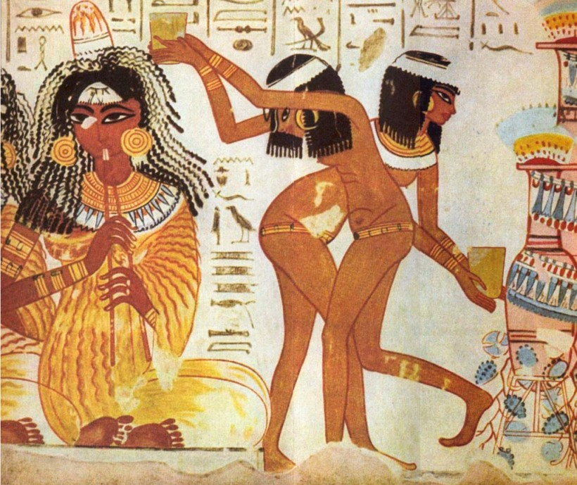 egipcios antiguos en la cama 3