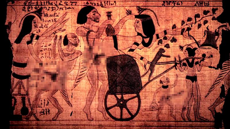 egipcios antiguos en la cama 6