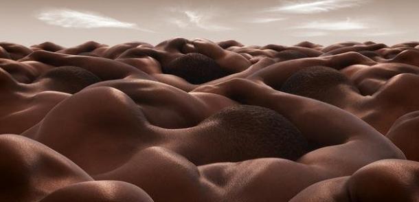 paisajes con cuerpos humanos